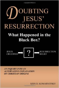 Black and orange book cover for Doubting Jesus' Resurrection.