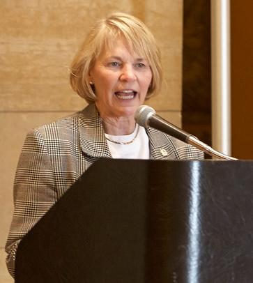 Photo of Rep. Kiffmeyer at a podium.