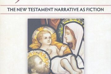Cover of Inventing Jesus, featuring stained glass art of Jesus, Mary, and Joseph.