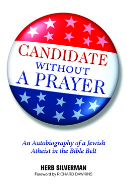 Cover of Candidate Without a Prayer, featuring the title on a campaign button.