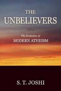 Cover of The Unbelievers, featuring a colorful sunset photo.