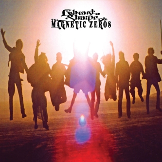 Album cover, featuring several leaping people silhoutted against a setting sun.