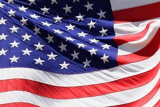 Close up photo of U.S. flag.