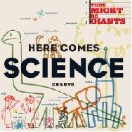 Cover of Here Comes Science, featuring colorful line drawings.
