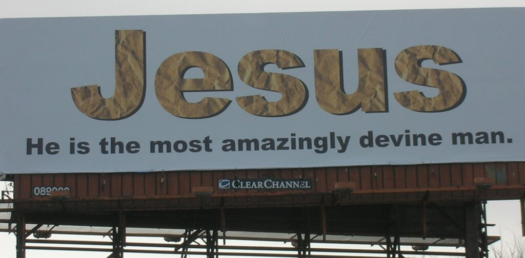 Photo of billboard described in the article.