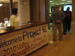 Photo of Project 42 registration table.