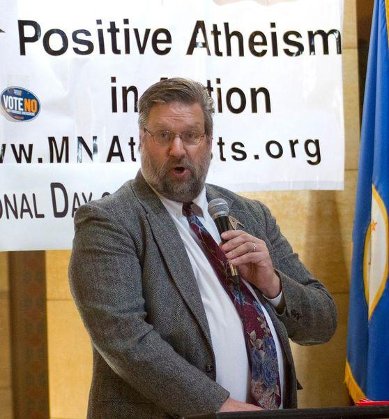 Scott Lohman speaks at Day of Reason in 2012.