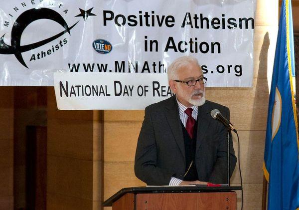 Grant Steves speaks at Day of Reason in 2012.