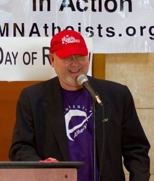 Steve Peterson speaks at Day of Reason in 2012.