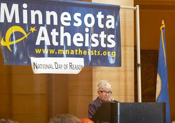 Phyllis Kahn speaks at Day of Reason in 2013.