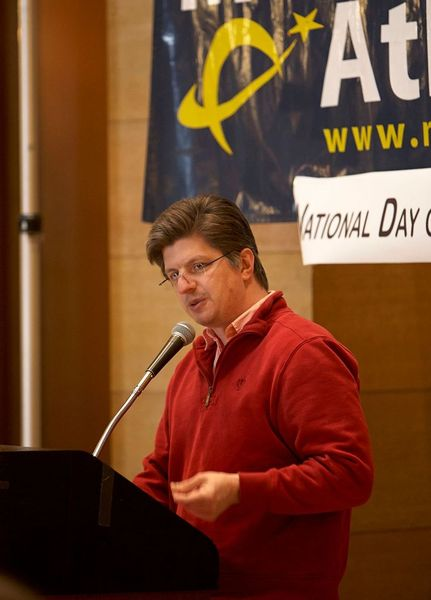 David Pacheco speaks at Day of Reason in 2013.