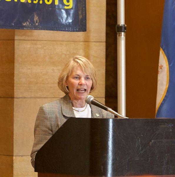Mary Kiffmeier speaks at Day of Reason in 2013.