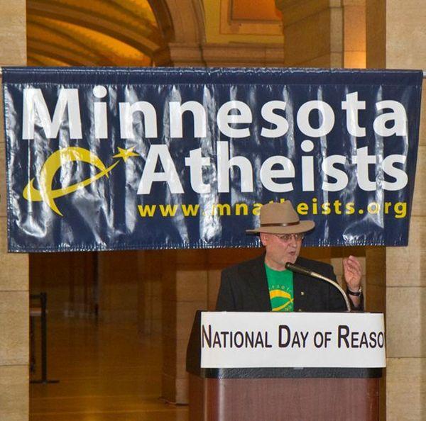 Steve Peterson speaks at Day of Reason in 2011.