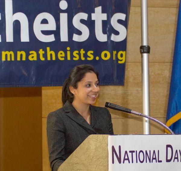 Sandhya Bathija speaks at Day of Reason in 2011.