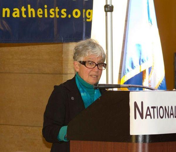 Phyllis Kahn speaks at Day of Reason in 2011.