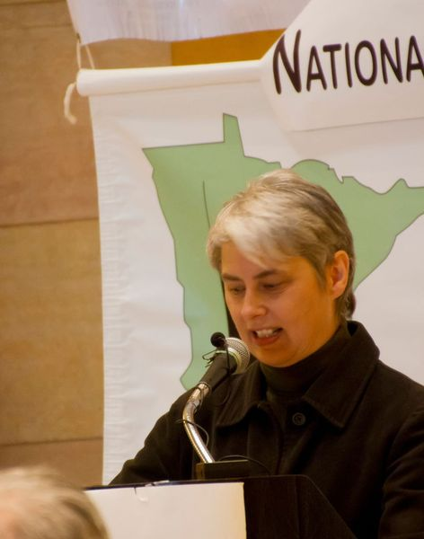 Audrey Kingstrom speaks at Day of Reason in 2014.