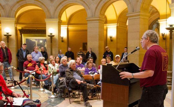 August Berkshire speaks at Day of Reason in 2014.