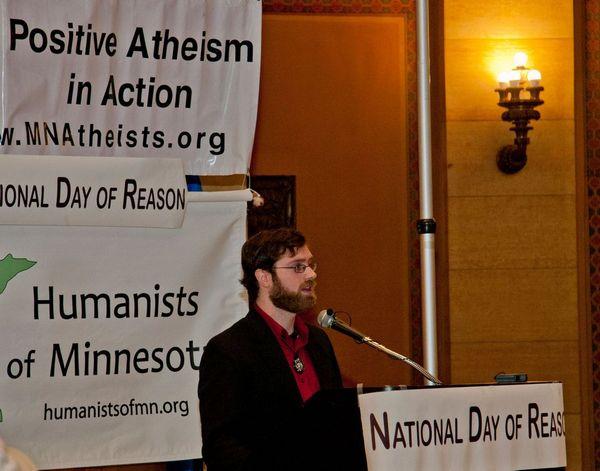 Speaker at Day of Reason in 2014.