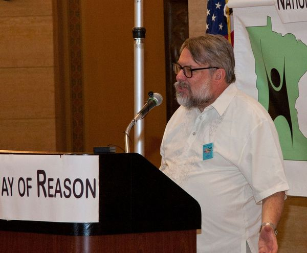 Randall Tigue speaks at Day of Reason in 2014.
