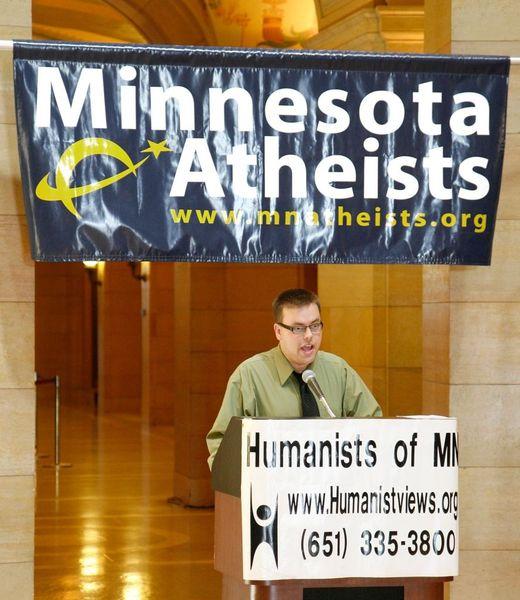 Bjorn Watland speaks at Day of Reason in 2009.