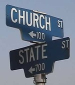 Photo of street signs at the intersection of Church and State.