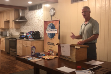 Freethought Toastmasters member, Bob, giving a speech